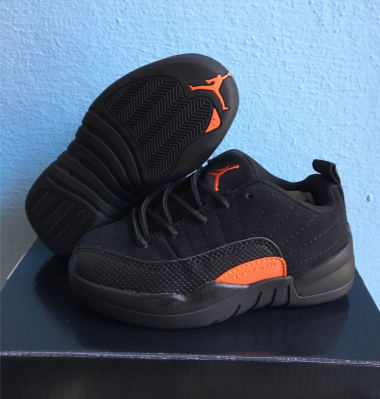 kid air jordan 12 low top shoes-002