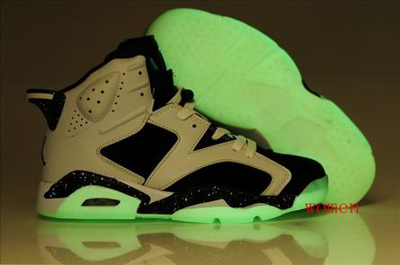 women jordan 6 night light shoes-002