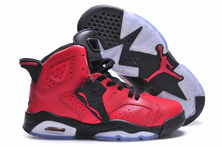 women jordan 6 red bull shoes-001